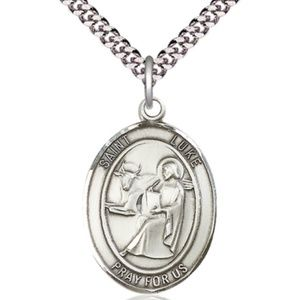 Sterling Silver St Luke the Apostle Pendant